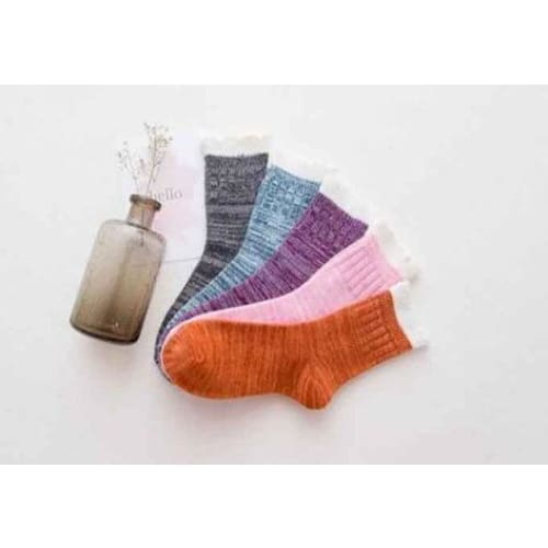 Winter Cottagecore Socks - Olga