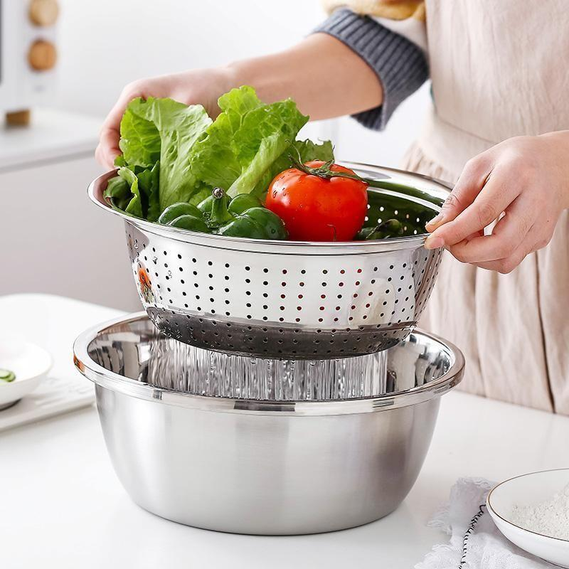 【Christmas Special 50%OFF】Multifunctional stainless steel basin