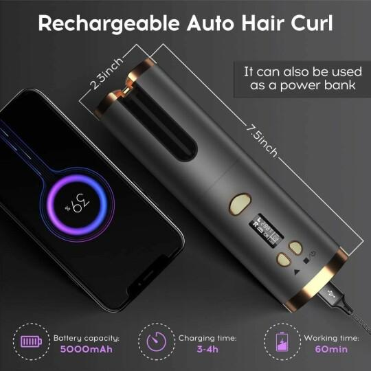 (50%OFF)Newest Auto Rotating Ceramic Hair Curler Upgraded Version