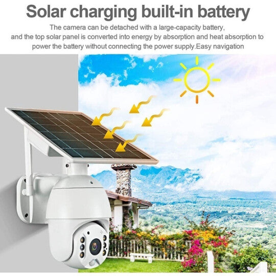Solar Powered Wireless Outdoor Security Camera