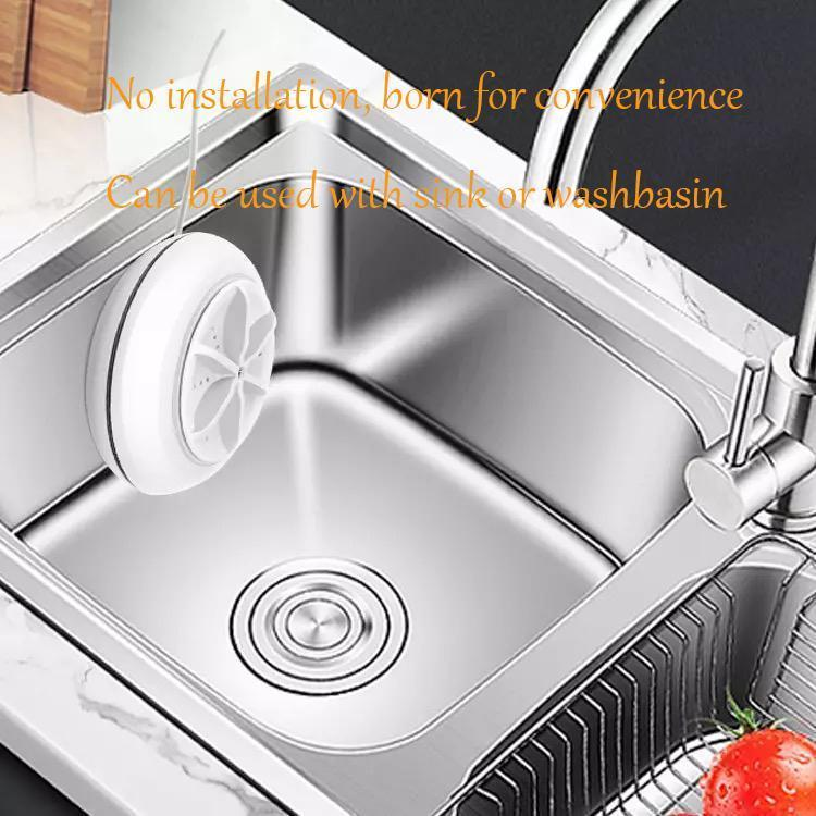 Portable ultrasonic dishwasher(Suitable for bowls, clothes, glasses, fruits, vegetables and tea sets)