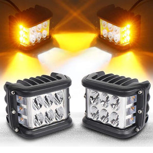 Dual Side Shooter Dual Color Strobe Cree Pods for Truck ATV Boat