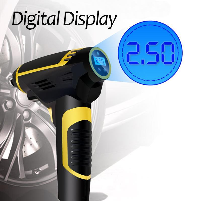 Portable Handheld Digital LED Smart Electric Air Pump