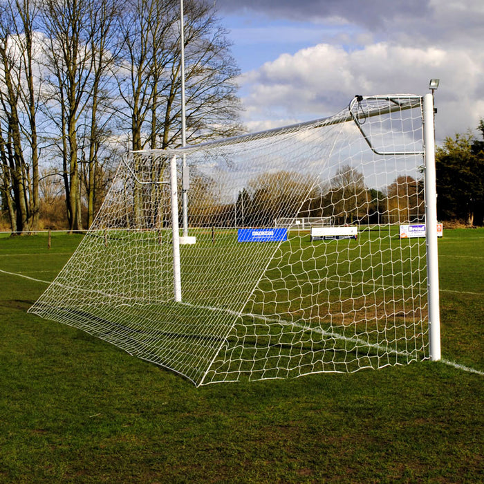 Senior Club 24×8 Football Goal Package: 11-A-Side Socketed Aluminium (PAIR)