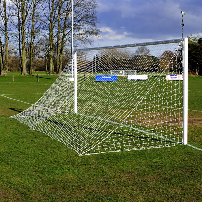 Senior Standard Quick Release 24×8 Football Goal Package: 11-A-Side Socketed Aluminium