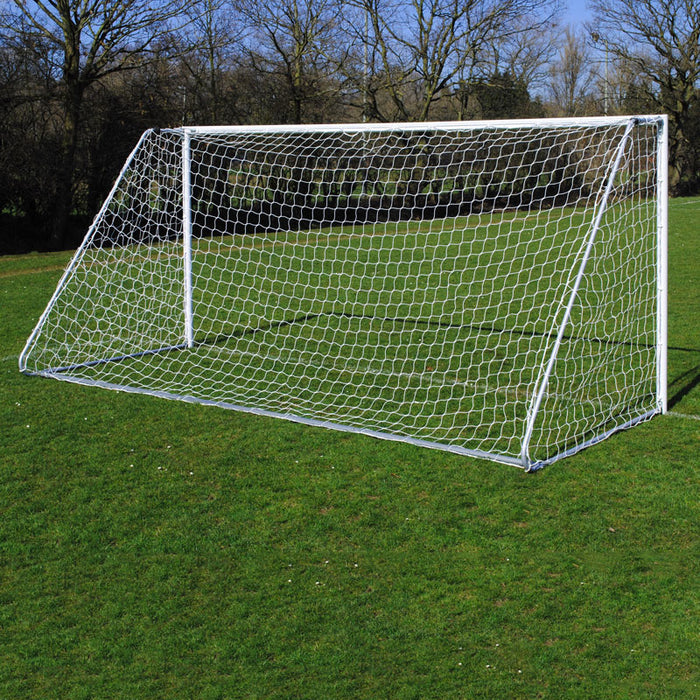 Lightweight Folding 16×7 Football Goal Package: 9v9 Freestanding Aluminium (Pair)