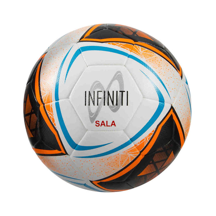 Samba Infiniti Hybrid Futsal Ball White/Fluo Orange/Blue