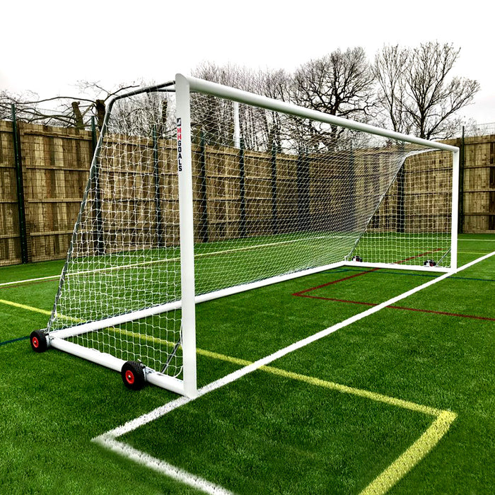 Senior Selfweighted Wheeled 24×8 Football Goals (Pair)