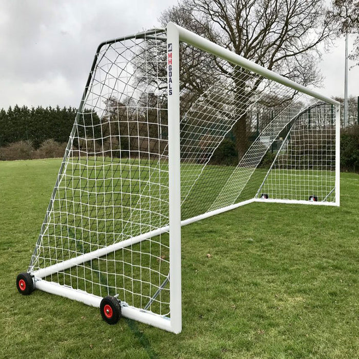 Youth Wheeled 21×7 Football Goal Package: 11-A-Side Freestanding Aluminium (Pair)