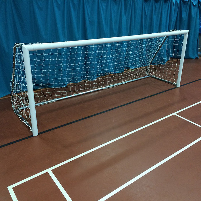 12×4 Lightweight Indoor Football 5v5 Goal Package: 5-A-Side Freestanding Aluminium (Pair)
