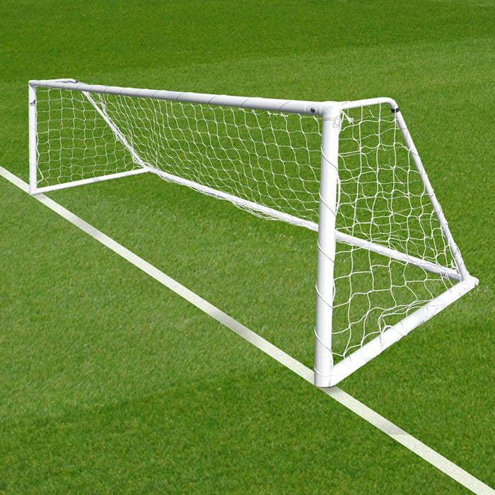 12×4 Heavy Duty Fixed Goals 5v5 Package: 5-A-Side Freestanding Steel (Pair)