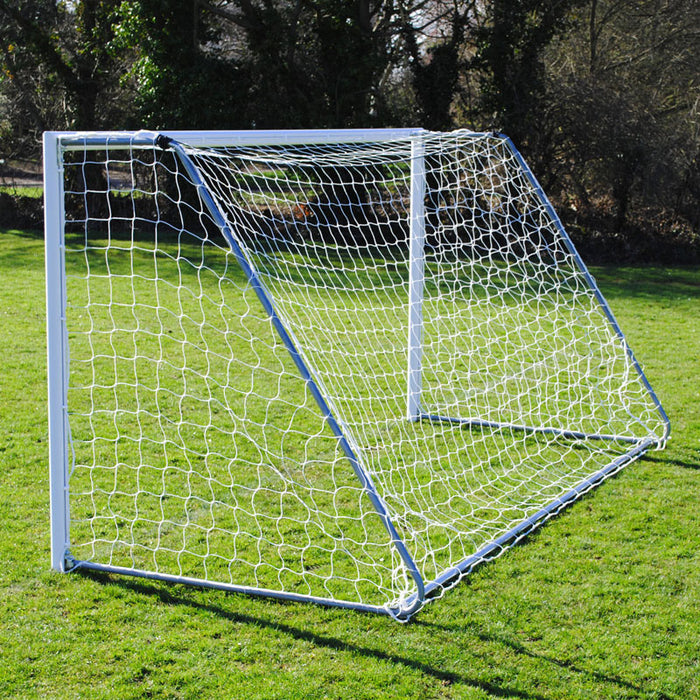 12×6 Lightweight Folding Football 7v7 Goal Package: Mini Soccer Freestanding Aluminium (Pair)