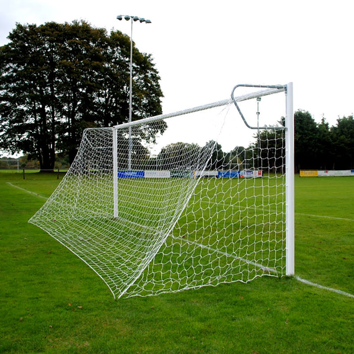 Senior Pro Quick Release 24×8 Football Goal Package with Net Supports: 11-A-Side Socketed Aluminium