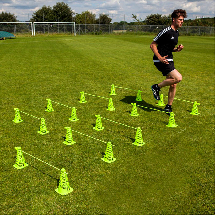 QuickPlay Pro Speed Agility Training Combo (35 Pieces) With Base Weights