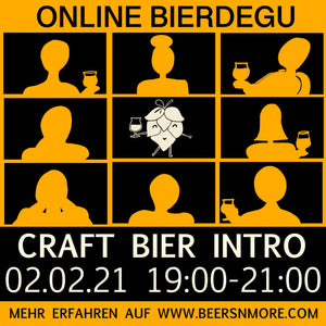 Online Intro to Craft Beer Tasting - in German on 2nd of February 2021