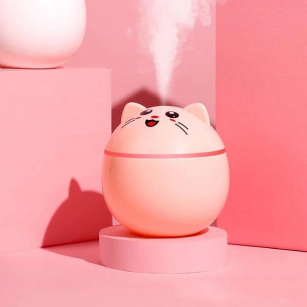 diffuseur humidificateur d'air tete de chaton