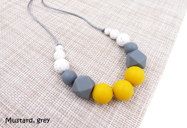 Silicone Teething Necklace Mustard