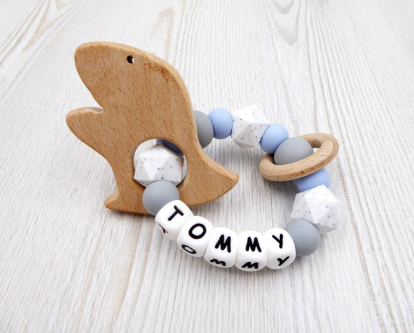 Silicone teether ring Teething Toy personalised