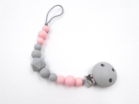 Pacifier clip Rose pink