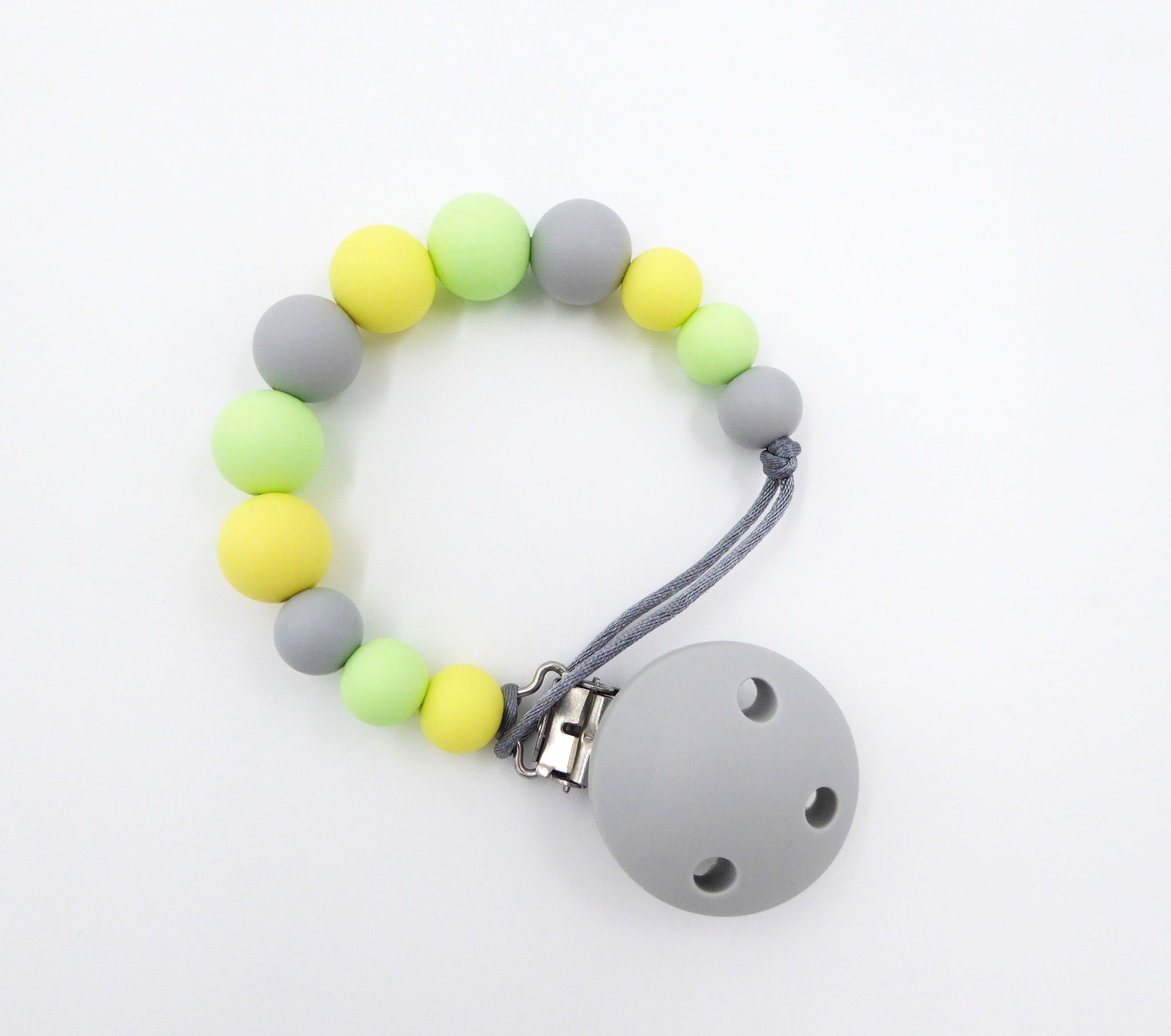 Pacifier clip Yellow Grey