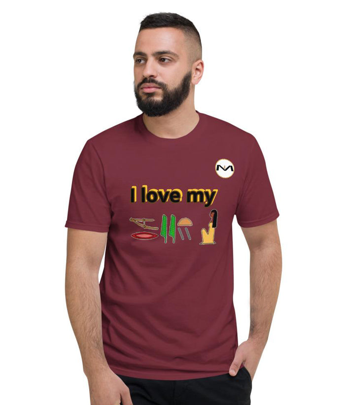 """I Love My Woman"" - MOLIAE Men Short-Sleeve T-Shirt"