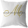 """M"" of MOLIAE Elegant Pillows"