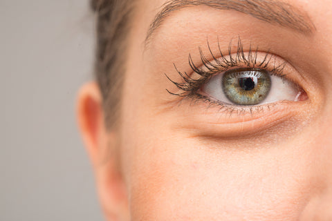 Eye bags on woman face