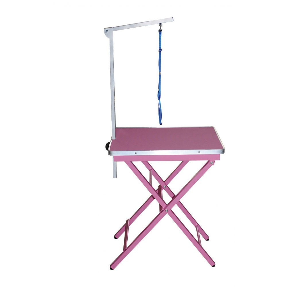 Foldable Ringside Table w/Arm Pink