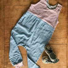 Load image into Gallery viewer, Lilac and Denim Romper