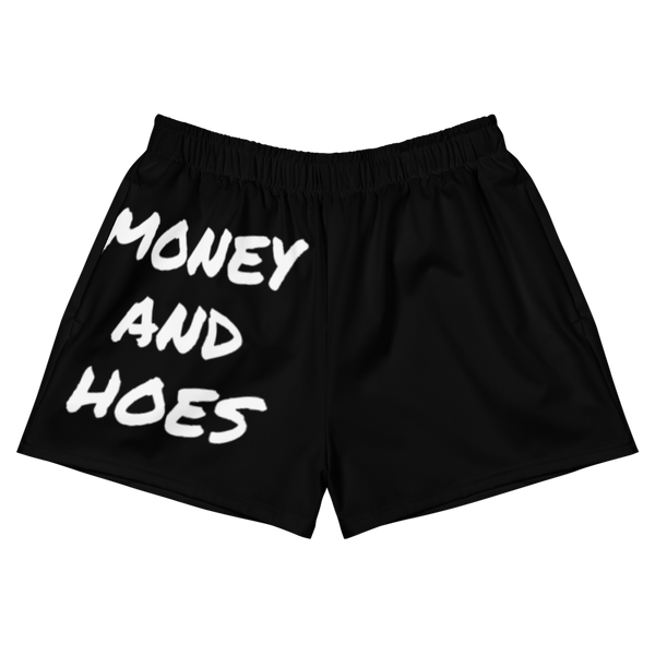 Money and Hoes Women's Athletic Short Shorts