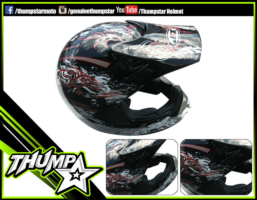 Helmet M Chrome Black