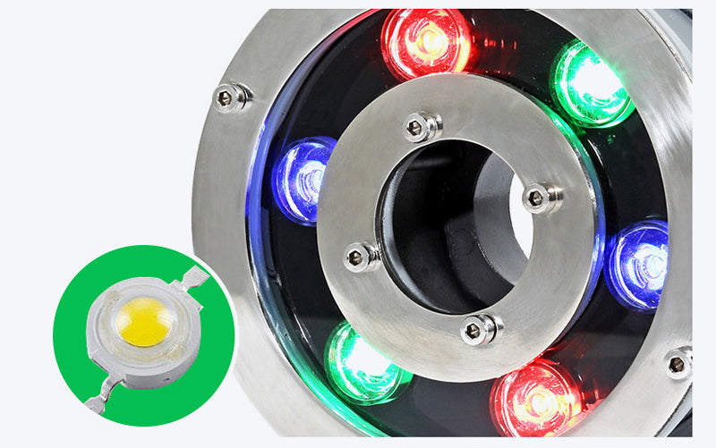 Led Submersible Swimming Pool Light Pond Landscape Light RGB Colorful Fountain Light