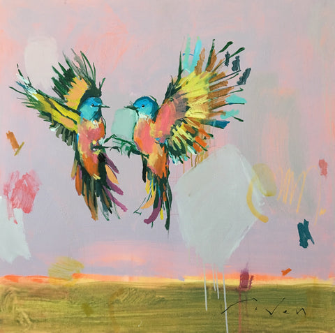 Lovebirds 36x36