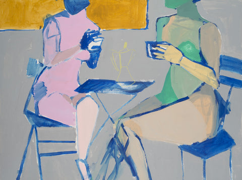 Sitting And Sharing 48x36