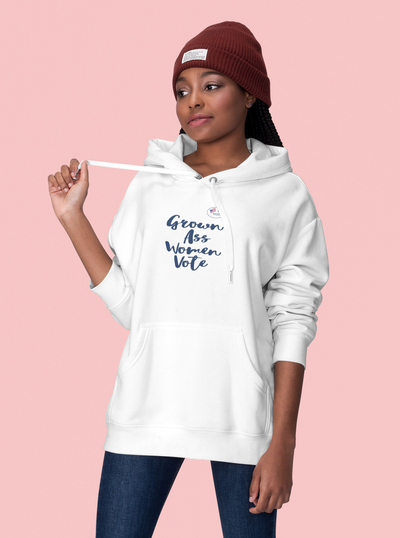 Jaireic Store Grown-Ass Women Vote Unisex Pullover Fleece Hoodie