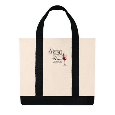 Coffee & Wine Shopping Tote