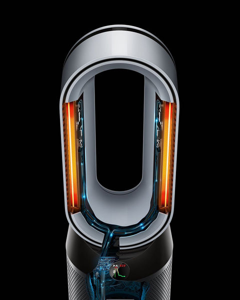 Control the temperature of your air in the colder months with Dyson purifier fan heater, Once your target temperature has been reached, it stops heating, savings energy. But if the temperature drops, it will automatically reactivate to maintain a cosy env