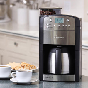 is quick and easy to use, and it has a built-in timer so your coffee is ready when you need it.