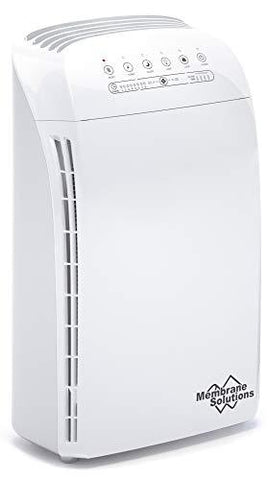This Air purifier conveniently placed along a wall in a small apartment. Inside, there is a HEPA filter, carbon cleaning, UV lamp and ionization unit.