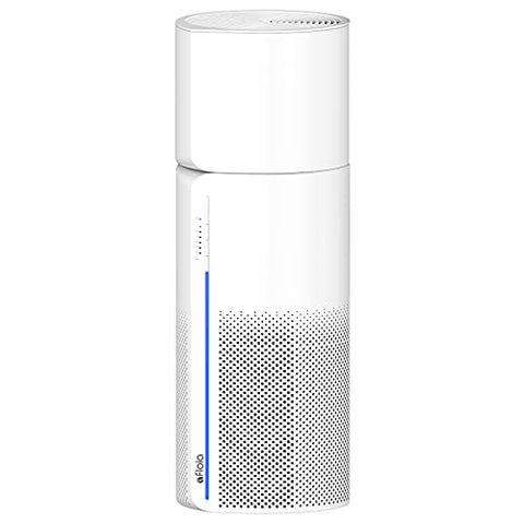 The cleaner-humidifier is made in a cylindrical shape, where the circumference of the air suction sieves are located