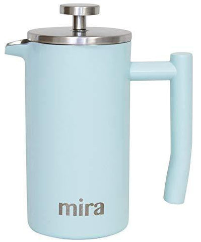 MIRA 12 oz Stainless Steel French Press Coffee Maker - Slushlyo