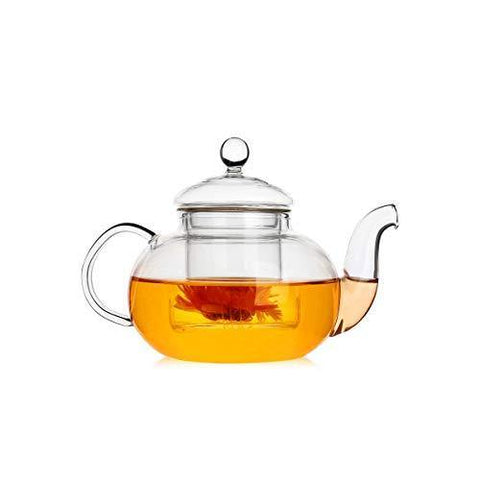 UFANME 13.5 oz Glass Teapot with Removable Infuser, Stovetop Safe Tea - Slushlyo