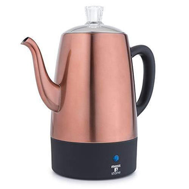 Moss & Stone Electric Coffee Percolator - Slushlyo Tea & Coffee