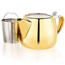 Load image into Gallery viewer, Pluto Porcelain Small Teapot Golden - Slushlyo Tea & Coffee