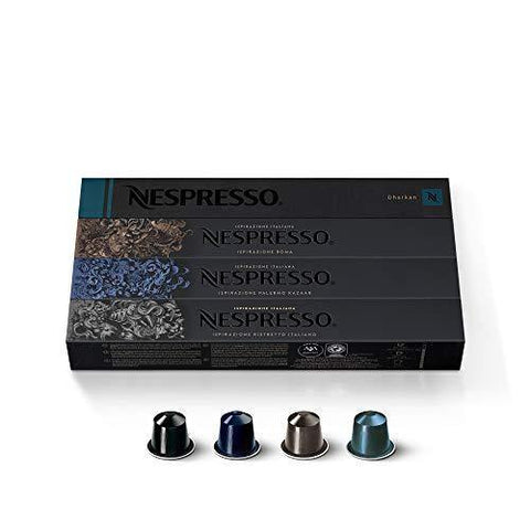 Nespresso Capsules OriginalLine, Intenso Variety Pack, Medium and Dark Roast Espresso Coffee, 40 Count Coffee Pods, Brews 1.35 oz - Slushlyo