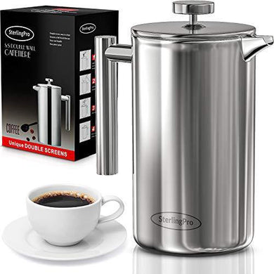 SterlingPro French Press Coffee Maker - Slushlyo Tea & Coffee
