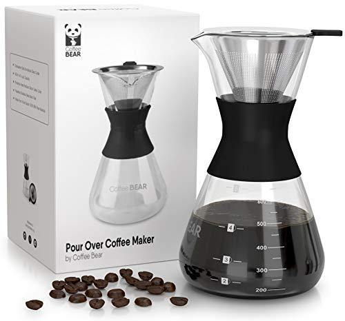 Pour Over Coffee Maker By Coffee Bear - Slushlyo Tea & Coffee