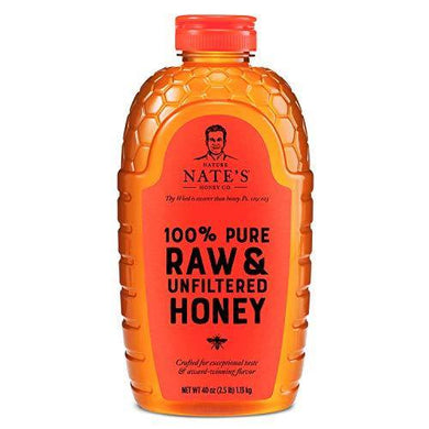 Nature Nate's 100% Pure, Raw & Unfiltered Honey, 40 oz. - Slushlyo Tea & Coffee