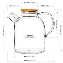Load image into Gallery viewer, Glass Teapot - Stove-top Kettle 60-ounce - Slushlyo Tea & Coffee