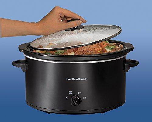 Hamilton Beach Portable 5-Quart Slow Cooker With Lid Latch Strap for Easy Transport, Dishwasher-Safe Crock, Black (33256) - Slushlyo